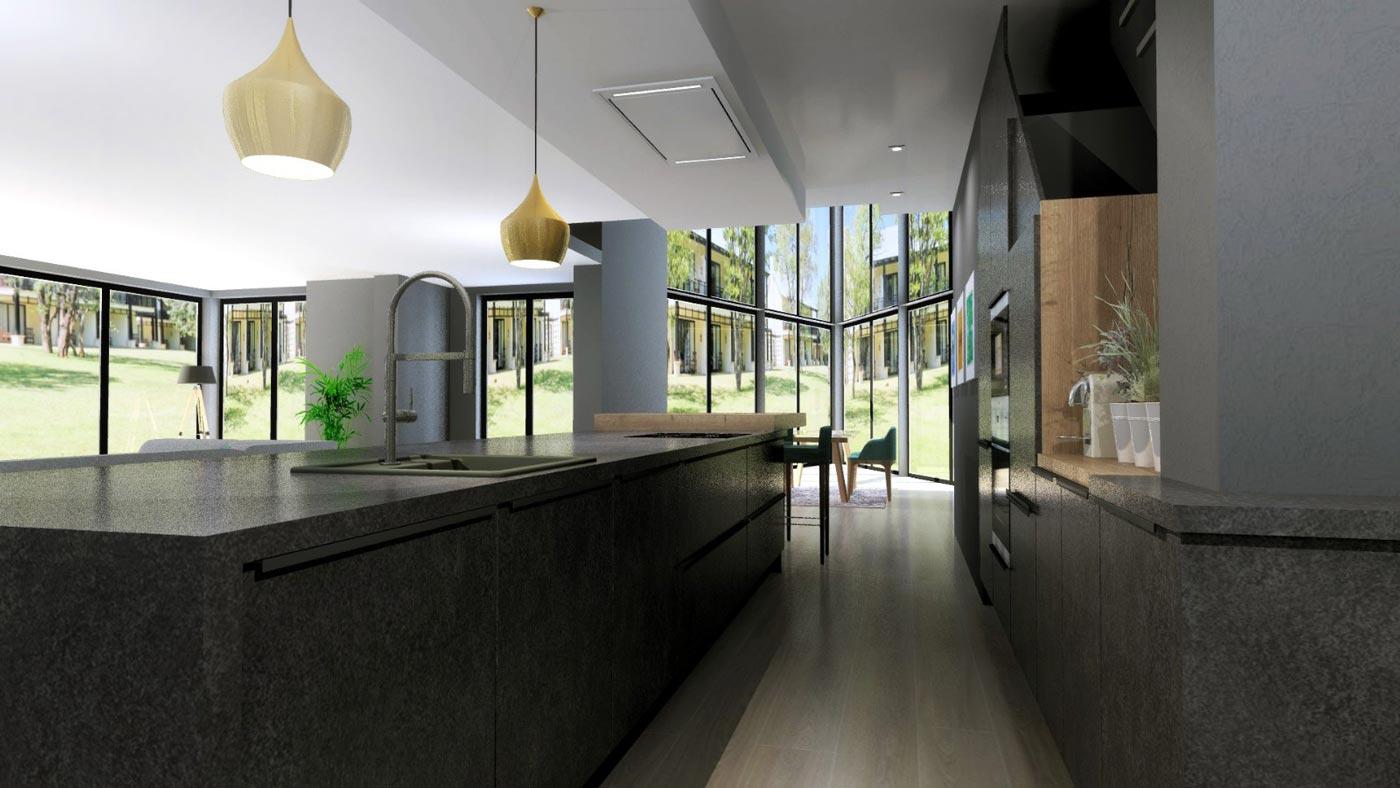 Cocina abierta e integrada